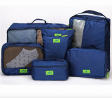 Where Can You Buy Travel Luggage Organizer 7Pcs Bag Sets Packing Cubes Navy Blue Intl