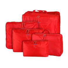 Sale Travel Packing Cubes Luggage Storage Bags Suitcase Organiserclothes Organisers Red 5Pcs Set Intl Online China