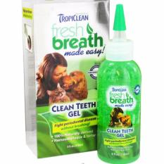 Tropiclean Clean Teeth Gel For Dogs & Cats, 4oz By Singpet.