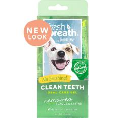 Tropiclean Fresh Breath Clean Teeth Gel (4oz) By Ah Beng Pet Store.