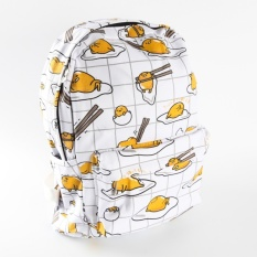 Twinklestar Lazy Egg Bag Gudetama Yolks Eggs Backpack Casual Travelbag - intl