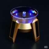 Buy Cheap Twinklestar New Solar Battery Dual Use Automatic Rotating Showcase Jewelrywatch Mobile Phone 360° Turntable Light Stand Display With Stent Gold Intl