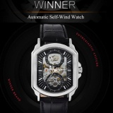 Best Reviews Of Twinner Fashion Sport Men Mechanical Watches Leather Strap Casual Automatic Watches With Gift Box Intl