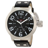 Shop For U S Polo Assn Classic Men S Us5207 Silver Tone Watch With Black Faux Leather Band Intl