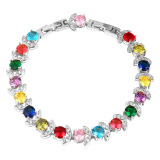 U7 18K Gold Plated Cubic Zircon Bracelet Multicolor Shop