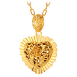 Price U7 Vintage 18K Real Gold Plated Pendant Necklace Gold Online China