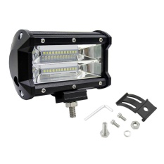 Low Cost Ubest 72W Two Rows Waterproof Led Light Bar Modified Vehicle Searchlight Car Lights Black Intl