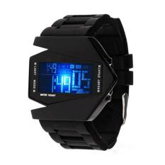 Cheap Unisex Led Waterproof Aircraft Sport Digital Display Wristwatch Watch Black