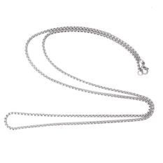 Unisex Mens 2mm Titanium Steel Box Chain Necklace Silver Tone Jewelry Gift By Lgpenny.