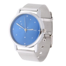 Unisex Quartz Watch Ultra Thin Dial Stainless Steel Mesh Strap Wrist Watch - intl