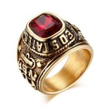 Who Sells United States Army Rings Eagle Hawk Us Army Stainless Steel Gold Plated Red Cz Stone Export The Cheapest