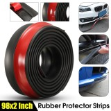 Best Offer Universal 98 Car Front Bumper Rubber Skirt Protector Lip Splitter Body Spoiler Intl