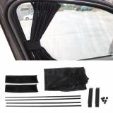 Price Comparison For Universal Black Mesh Interlock Vip Car Window Curtain Sunshade Visor Uv Block Intl