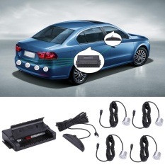 Universal Car Parking Reverse Backup Radar System With Led Display And 4 Sensors Black - Intl By Sweatbuy.
