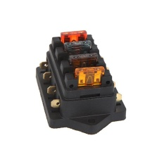 Universal Car Truck Vehicle 4 Way Circuit Automotive Middle-Sized Blade Fuse Box Block Holder - Intl By Tomtop.