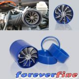 Review Universal F1 Z Blue Dual Fan Turbonator Fuel Saver For Turbo Supercharger Air Intake Intl China