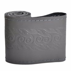 Where To Shop For Universal Genuine Leather Car Steering Wheel Cover Stitching Flame Pattern Style Size S Gray Intl