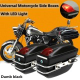 Best Reviews Of Universal Motorcycle Side Pannier Boxes Hard Saddle Bags Hard Case Rack Cruiser Dumb Black Intl