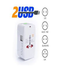 Who Sells The Cheapest Universal Travel Wall Charger Ac Power Au Uk Us Eu Plug Adapter With 2 Usb Intl Online