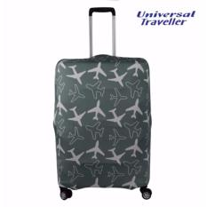 Price Universal Traveller Stretchable Elastic Travel Luggage Suitcase Protective Cover Ulc679 Dark Grey Large Singapore