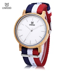 UWOOD UW - 1006 Men Quartz Watch Imported Movt Nylon Band Wooden Case Wristwatch - intl