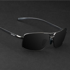 d8c9a49c27 VEITHDIA 2458 Polarized Sunglasses Men black frame gray lens(Export)