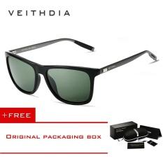 VEITHDIA Unisex Retro Aluminum+TR90 Sunglasses Polarized Eyewear  Accessories Sun Glasses Men Women 6108 01de673e73
