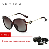 Veithdia Tr90 Women S Driving Sun Glasses Polarized Mirror Lens Luxury Ladies Designer Sunglasses Eyewear For Women 8011 Brown In Stock