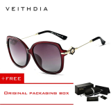 Veithdia Tr90 Women S Driving Sun Glasses Polarized Mirror Lens Luxury Ladies Designer Sunglasses Eyewear For Women 8011 Red Free Shipping