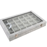 Sale Velvet Jewelry Box 24 Square Slots Online Singapore