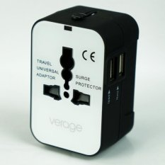 Verage Travel Worldwide Multi Adaptor With Usb White Verage Cheap On Singapore