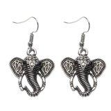 Top Rated Vintage Carved Elephant Earrings Metal Earrings Jewelry 1 Pair Intl