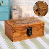 Vintage Wooden Jewelry Box Metal Lock Key Trinket Chest Gift Earring Watch Case Intl Discount Code