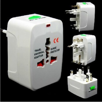 VORSTEK Power Socket Adapter Universal Travel SocketPower Charger (White)