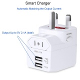 Wap160 Universal World Travel Adapter With 2 Usb Ports Over 150 Countries Usb Power Adapter With Uk Us Au Eu Plugs Intl Cheap