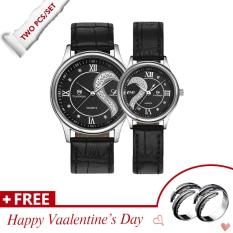 Buy Cheap Waterproof Couple Stainless Steel Romantic Pair His And Hers Wrist Watches For Valentine S Day Present Set Black Intl