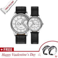 Sales Price Waterproof Couple Stainless Steel Romantic Pair His And Hers Wrist Watches For Valentine S Day Present Set White Intl