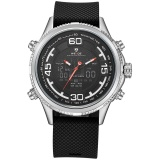 List Price Weide Wh6306 Outdoor Sports Waterproof Men S Pu Leather Strap Watches Silver Black Intl Weide