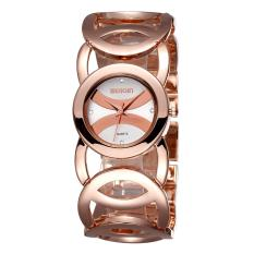 Review Weiqin Brand Luxury Women Watches Fashion Quartz Watch Hollow Bracelet Band Wristwatches 248703 White Rose Gold Intl On China