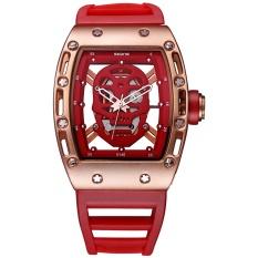 Cheapest Wholesale Skone 3987 Pirate Skull Mens Fashion Skeleton Luminous Quartz Watches With Silicone Strap Military Wristwatch Relogio Masculino Intl