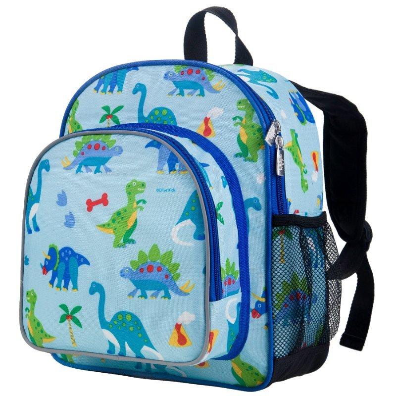 Wildkin Olive Kids Dinosaur Land Pack n Snack Backpack School Bag