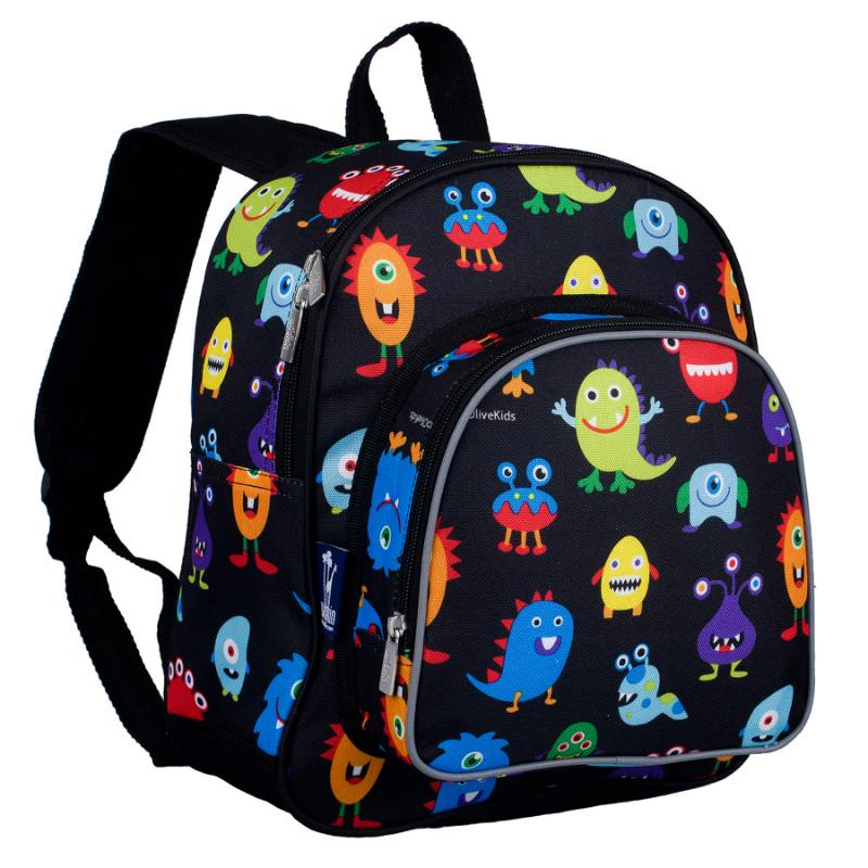Wildkin Olive Kids Monsters Pack n Snack Backpack School Bag