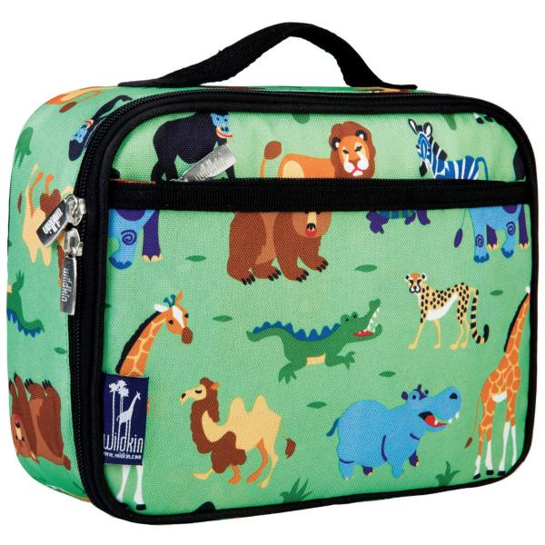Wildkin Olive Kids Wild Animals Insulated Lunch Box Bag