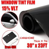 Best Rated Window Tint Film Black Commercial Car Truck Auto House Glass 76Cm X 7M Vlt 15 Intl