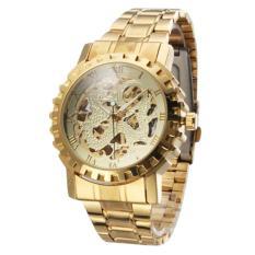 Winner 043 Men S Roman Numbers Design Skeleton Dial Self Wind Mechanical Wrist Watch Golden 360Dsc Cheap On Hong Kong Sar China