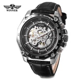 Buy Cheap Winner 427 Male Auto Mechanical Watch Luminous Leather Band Wristwatch Intl