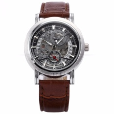 Best Reviews Of Winner Classic Mens Skeleton Dial Automatic Mechanical Date Retro Brown Leather Watch Pmw044 Intl