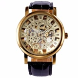 Price Winner Classic Roman Golden Skeleton Mechanical Geniune Leather Business Men S Man Watch Pmw217 Intl Winner China