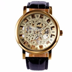 Sale Winner Classic Roman Golden Skeleton Mechanical Geniune Leather Business Men S Man Watch Pmw217 Intl Winner Online