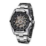 Coupon Winner Fashion Automatic Mechanical Watch Skeleton See Through Dial Self Winding Top Luxury Brand Men Wristwatch